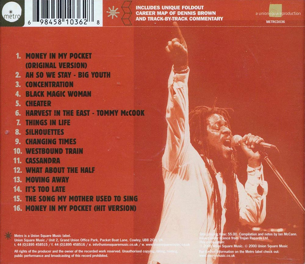 Dennis Brown 1970's Dub / LP album discography Page 6 - 2000 to 2002