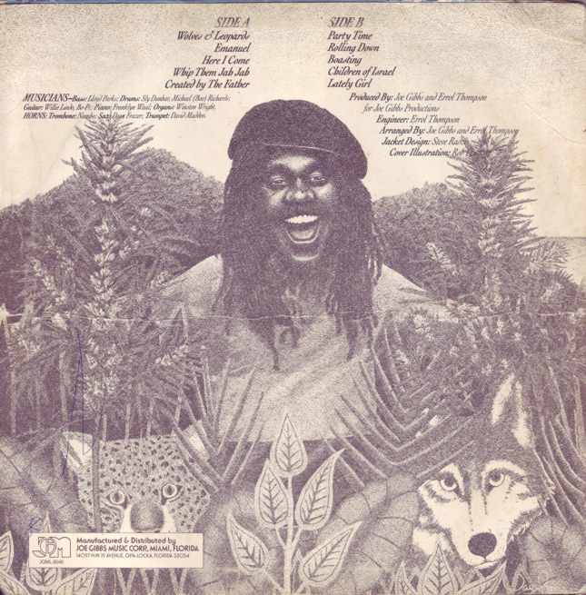 Wolf And Leopards Joe Gibbs Music LP rear cover