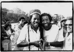 Dennis Brown and Freddie Mcgreger - Copyright David Corio