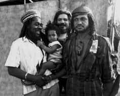 Dennis Brown with Sly Dunbar and Tommy Cowan - Copyright David Corio