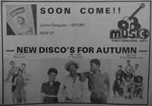 DEB Music's Effort LP advert from Black Music magazine - October 1979