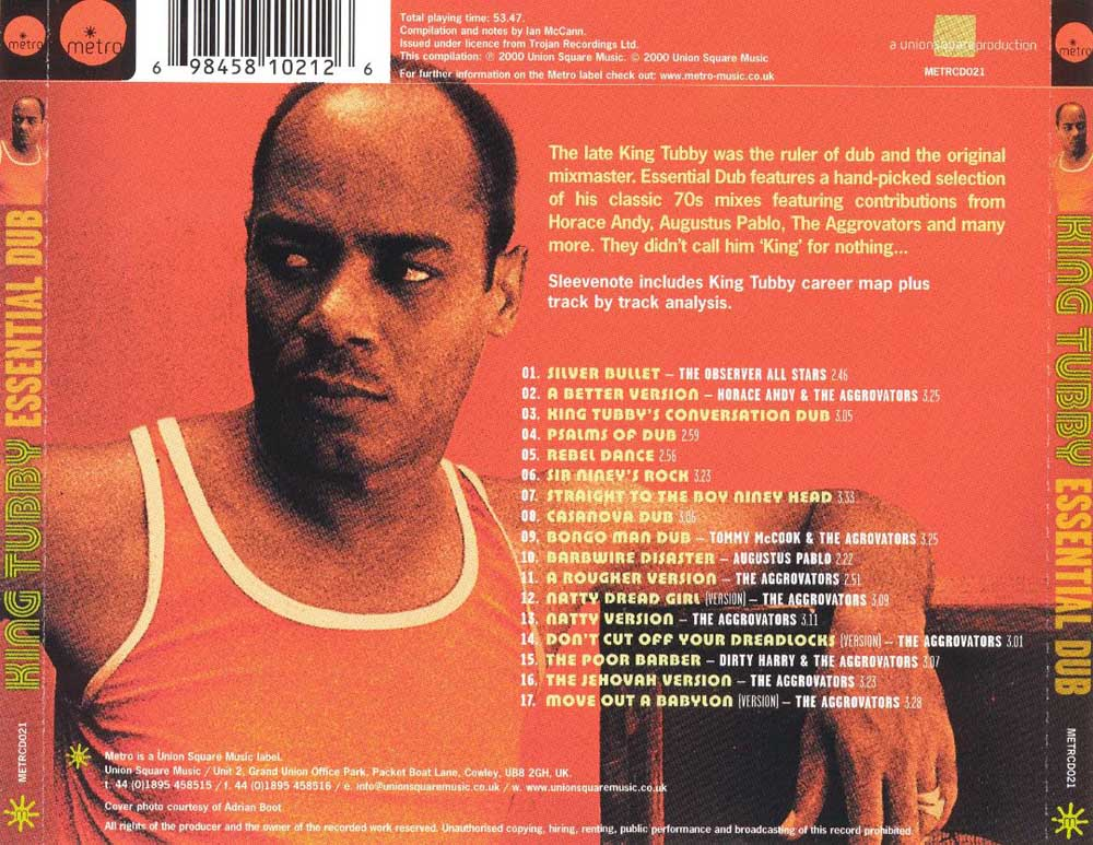 King Tubby Dub Album Discography Page 13 / 2000 at X-RAY MUSIC