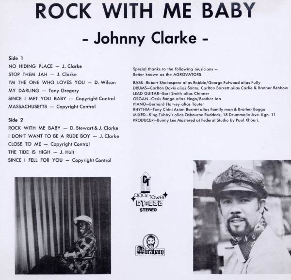 Johnny Clarke - Rock With Me Baby rear cover