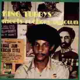 King Tubby Meets Rockers Uptown original LP cover - Clocktower 1975