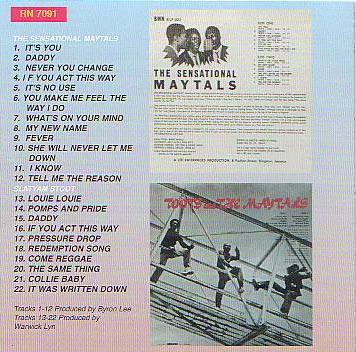 Toots and the maytals the sensational maytals
