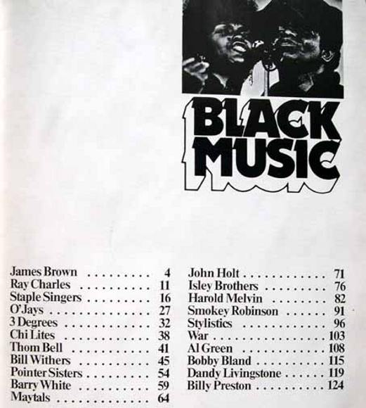Black Music by Gavin Petrie from 1974