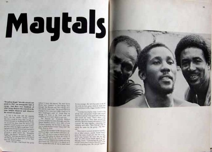 The Maytals in Black Music by Gavin Petrie from 1974