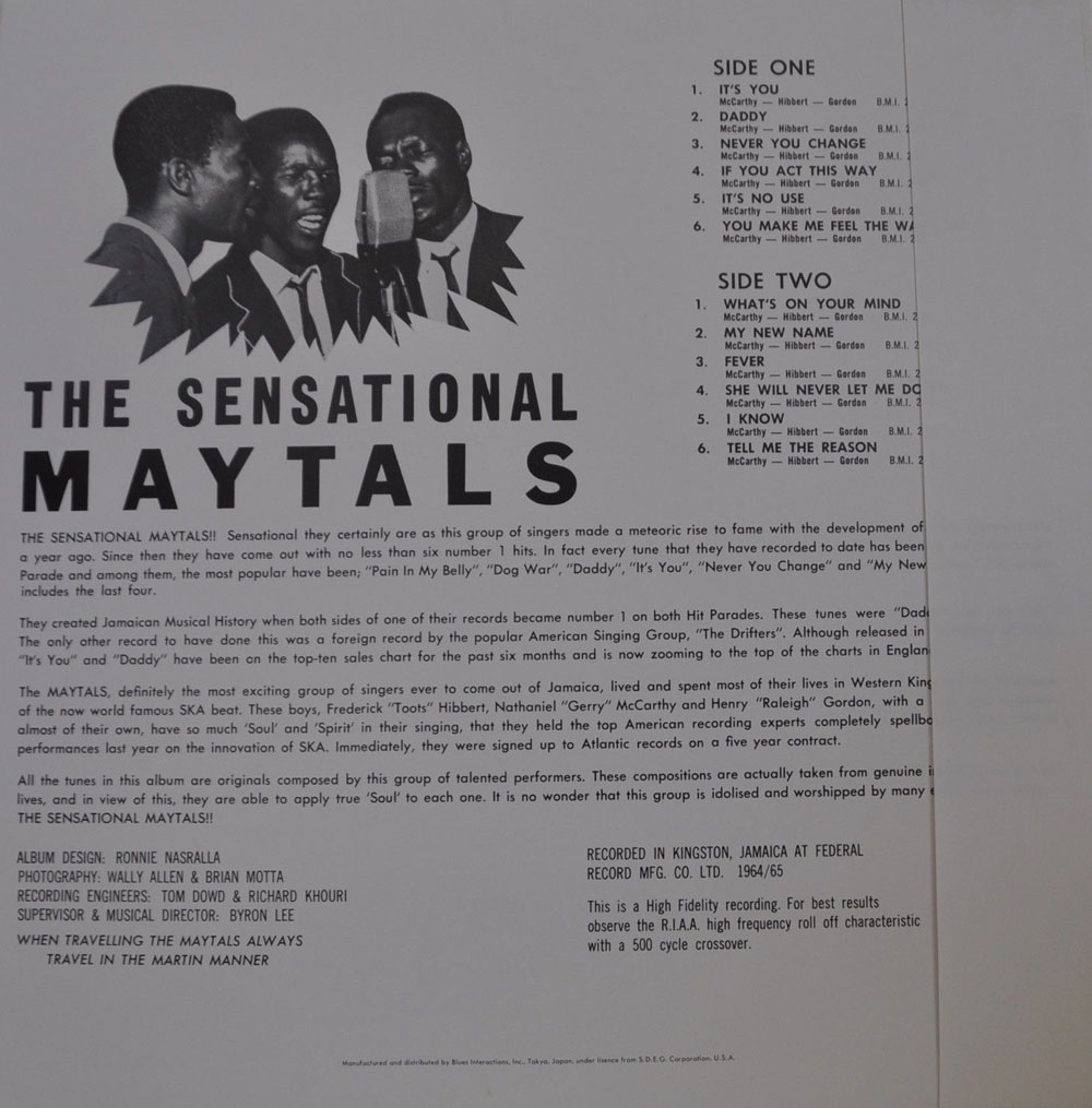 Toots And The Maytals Album Discography Page 1 1963 1978