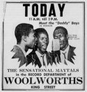 The Maytals Woolworths appearance news ad